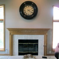 The fireplace transformation
