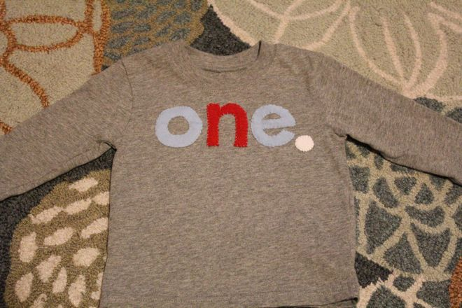 How To DIY A First Birthday Shirt No Sewing Machine Required The