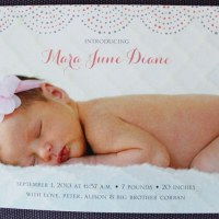 Mara's birth announcements