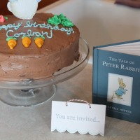 A 'Peter Rabbit' themed 3rd birthday party