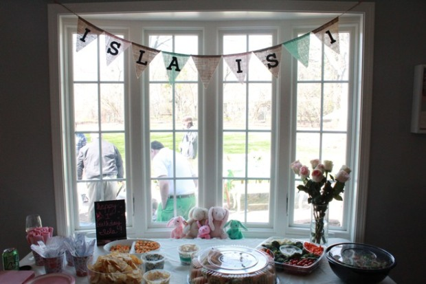 Bunny-themed first birthday party