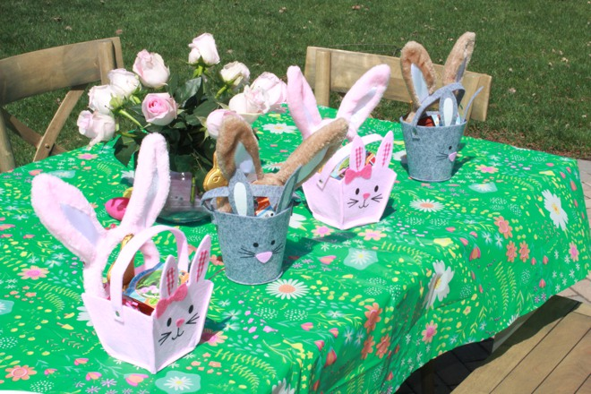 Bunny-themed party favors