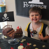 Pirate-themed 4th birthday party